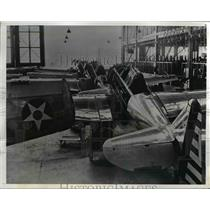 1941 Press Photo Inglewood Calif. North American Aviation's At-6A trainers.