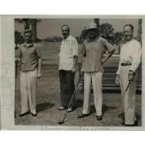 1941 Press Photo The Duke, J. Gordon Douglas, Milton Holden. Col. Latham R. Reed