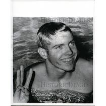 1970 Press Photo Gary Hall adds third world record for swimming at Swim Stadium