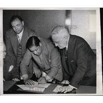 1939 Press Photo NYCJulian Black mgr of Joe Louis, Gen JJ Phelan - nes30035