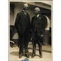 1928 Press Photo Pilgrims Frederick Fagley and Dr Wilson on SS Celtic