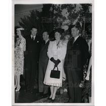 1939 Press Photo Crown Prince Olav, Princess Martha of Norway at Boston Luncheon