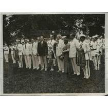 1932 Press Photo Boys Band of Miami, President Herbert Hoover at White House