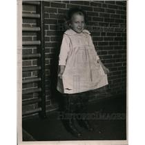 1921 Press Photo Johanna Mitreson young girl