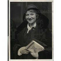 1931 Press Photo Charlotte Boerner, German opera star - nee62454