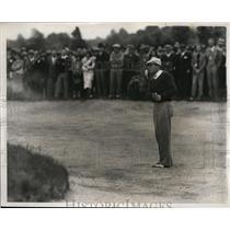 1938 Press Photo Ralph Guldahl in sand at Metropolital Open golf Fresh Meadow