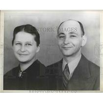 1941 Press Photo Maurice Helbraut and Wife  - nee61884