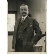 1929 Press Photo Dr. William Kisselbach, German-American Claim Commission