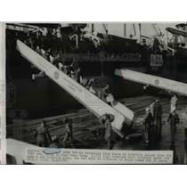 1951 Press Photo Army troops returning from Korea on rotation arrived in Seattle