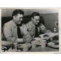 1944 Press Photo San Francisco Cmdr Gene Tunney & Lt Cmdr William Coney