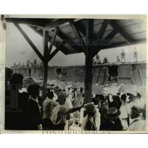 1928 Press Photo Troop train with Gen Alvaro Obregon leaves Mexico City