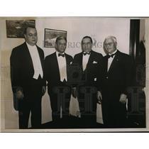 1935 Press Photo Judge Salvatore Cotillo, Ferdinand Pecora, Italian Consuls