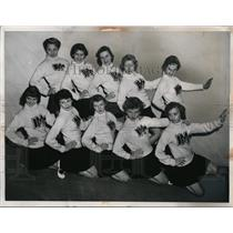 1955 Press Photo Cleveland Cheerleading Squad - nee63134