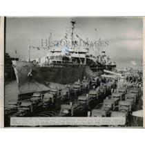 1951 Press Photo Seattle-The USNS Gen. Leroy Eltinge arrived here today.