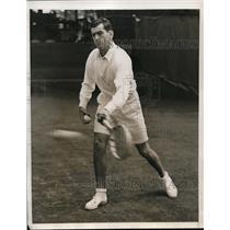 1938 Press Photo Forest Hills NY Franjo Kukulevic Jugoslav tennis star