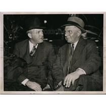 1936 Press Photo Roger Hornsby magr of St Louis Browns & Bill Killifer ex mgr