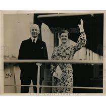 1936 Press Photo Sir Herbert Marler and Lady Marler Return from Tokyo