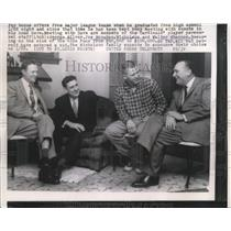 1958 Press Photo George Silvey, Joe Monahan, Nicholson, Walter Shannon