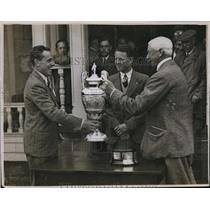 1932 Press Photo J De Forest wins British Amateur golf at Muirfield - nes17970