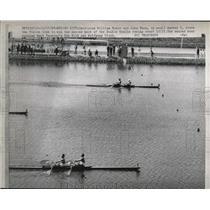 1968 Press Photo Mexico City US Wm Mahar, John Nunn scull vs W Germany