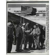 1962 Press Photo Prince Souvanna Phouma,arrival at MATS Terminal Washington
