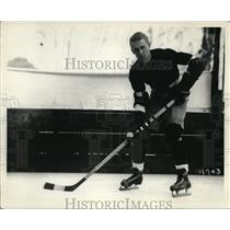 1931 Press Photo Albert Chatton center Uniiversity of So Calfi hockey