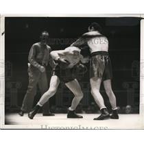 1936 Press Photo Lou Ambers versus Ton Canzoneri at Madison Square Garden