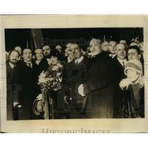 1925 Press Photo Count and Countess Volpi with Gov. Filipino Cremonesi