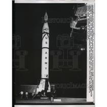 1957 Press Photo Cape Canaveral Florida, Army Ballistic Technicians, Jupiter C
