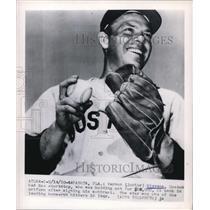 1950 Press Photo Sarasota Fla Vernon Junior Stevens Red Sox SS at training