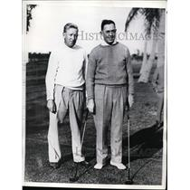 1936 Press Photo Willie Klein & Francis Duimet before match at Bay Shore