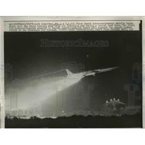1958 Press Photo U.S. Air Force Snark Missile During Launch, Cape Canaveral