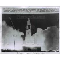 1958 Press Photo Cape Canaveral Florida, Army Jupiter Test Missile Launch