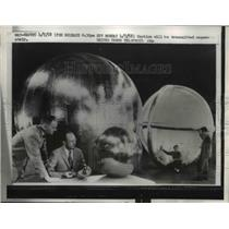 1958 Press Photo 12 Foot Sphere Will Be Largest Satellite To Orbit the Earth