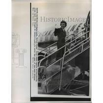 1954 Press Photo Faye Loyd United Press First Woman Sports Writer in Dallas
