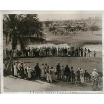 1935 Press Photo Maureen Orcutt at 1st tee Miami Biltmore womens golf