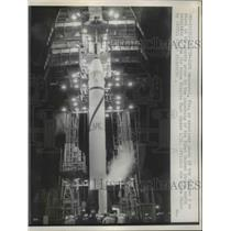 1958 Press Photo Cape Canaveral Fla Jupiter C rocket ready for launch