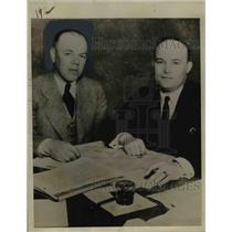 1933 Press Photo Allen Drumheller & Edwin James Brown Attorney Racing Commission