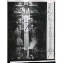 1958 Press Photo Cape Canaveral Florida, Jupiter C Prior To Launching, Air Force