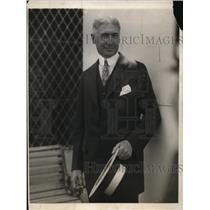 1923 Press Photo Bernard Baruch, Banker, Sailed on Olympic for Vacation