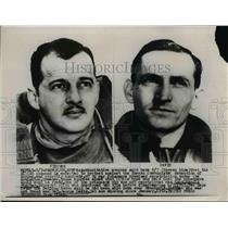 1953 Press Photo Capt Harold Fischer and Maj George Davis not among freed POW