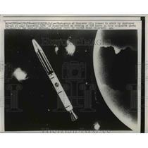 1958 Press Photo Washington DC Explorer III Jupiter C Rocket Cape Canaveral Army