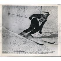 1950 Press Photo Georges Schneider of Switzerland in Men's Slalom - nes33113