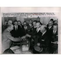 1963 Press Photo Generalissimo Francisco Franco Casts his votes for elections
