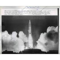 1958 Press Photo Cape Canaveral Florida Jupiter Launch, Air Force  - nee74168