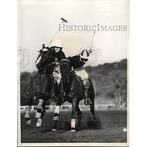 1935 Press Photo USC polo, Capt Don Spiers vs SC team - nes34069