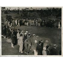 1932 Press Photo Johnny Revolta at Miami Biltmore Open in Fla, Denny Shute wins
