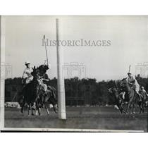 1933 Press Photo Eastern vs Western teams at polo H Williams, R Guest