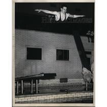 1936 Press Photo Univ of Penn diver Bob Helms at meet with CCNY - nes33683