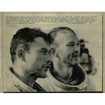 1956 Press Photo Astronauts John Young,, Michael Collins USS Guadalcanal